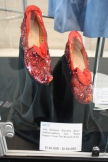 "Test pair of the ruby red slippers from ""The Wizard of Oz"""