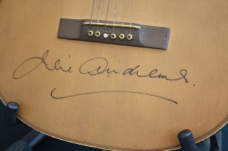 "Julie Andrews signed guitar from ""The Sound of Music"""