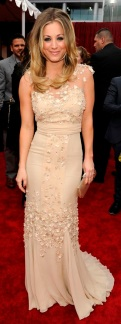 Kaley Cuoco in Badgley Mischka