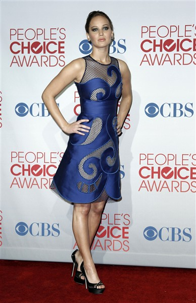 Jennifer Lawrence in a Viktor & Rolf cutout dress