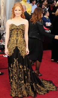Jessica Chastain in Alexander McQueen - My Best Dressed Pick!