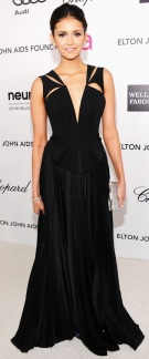 Nina Dobrev at the Elton John Party in J. Mendel