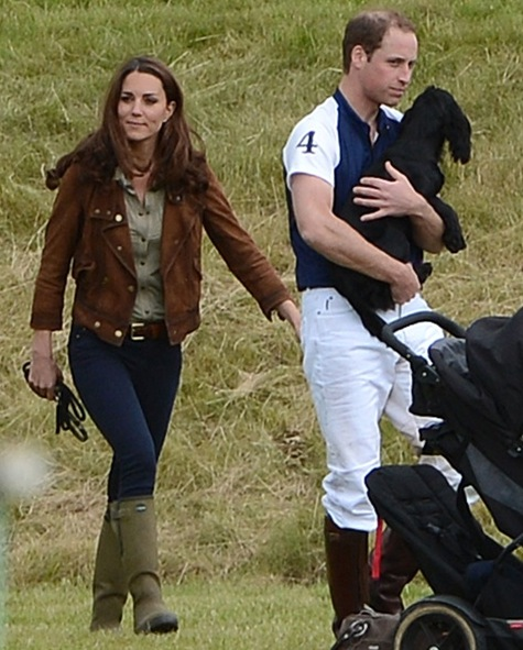 William and Kate at Beaufort Polo Club