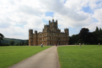 My first view of Highclere Castle/Downton Abbey
