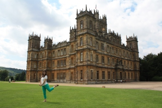 Me in front of Downton Abbey