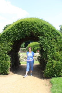 Mom in the Highclere Castle garden