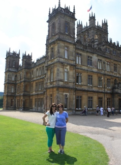 Mom and me in front of Downton Abbey