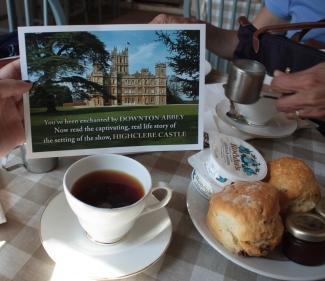 We had tea at Downton Abbey!!