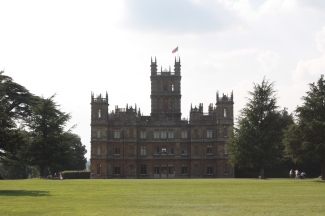 Side view of Highclere Castle