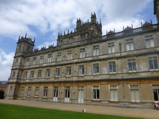 Side view of Downton Abbey